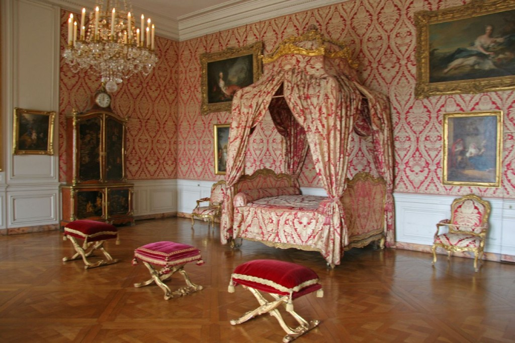 The Dauphine's bedchamber, 1747, Versailles, France. © Jim Coggins.