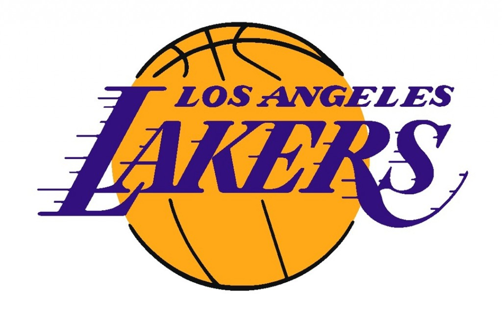 "National Basketball Association (NBA) team ""Los Angeles Lakers"" logo by Tkgd2007 is licensed under Commons."