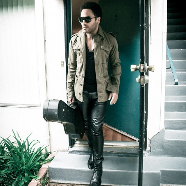 Musician Lenny Kravitz leaving a music session, 2014. © Lenny Kravitz, courtesy of Instagram.