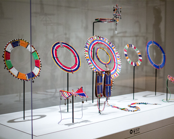 Installation of Maasai necklaces © Natali Wiseman